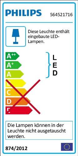Philips Ledino R/églette LED Acier Bross/é 4 x 5 W Chrome Mat