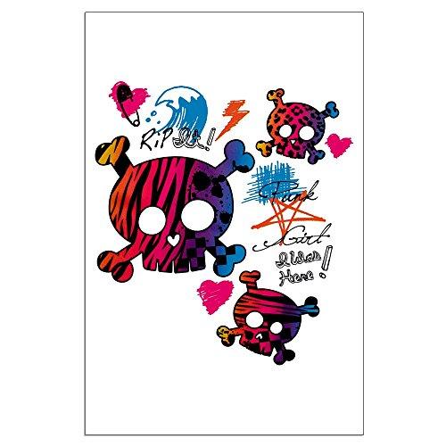 (Large Poster Punk Girl Skulls Peace Symbol)