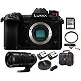 PANASONIC LUMIX G9 Mirrorless Camera Body + H-RS100400, 100-400MM LUMIX G LEICA DG LENS, 128GB VideoMic Go Bundle
