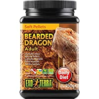 Exo Terra Soft Pellets Adult Bearded Dragon Food, 250 g