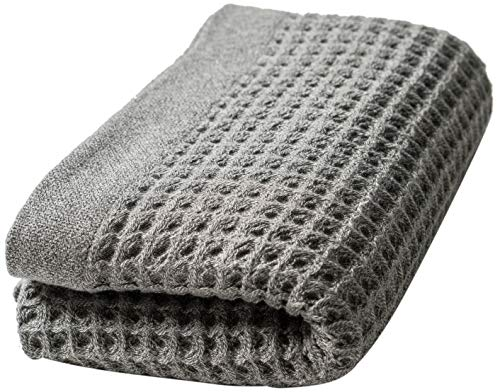 - Nutrl Home Waffle Weave Bath Towel - Antimicrobial 100% Supima Cotton (Grey, 55 x 28 Inch) Premium Luxury Bath Sheet Towels - Perfect for Hotels, Travel, Bathrooms, Spa, and Gym