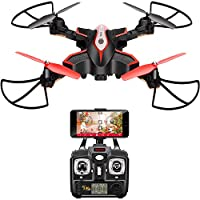 DoDoeleph Syma X56W RC Drone Foldable Quadcopter With HD 720P Wifi Camera and Live Video 4 Channel Headless Mode Altitude Hold One Key Take off Landing UAV by DoDoeleph