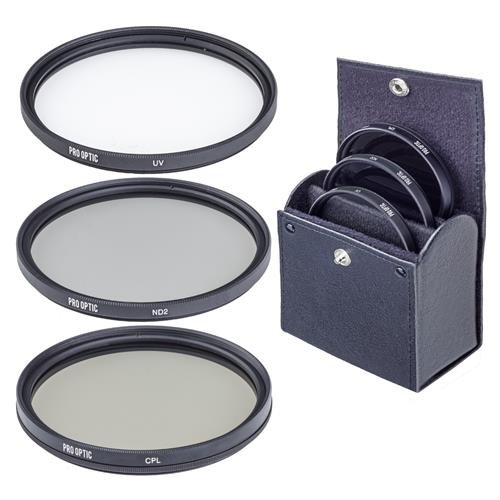ProOptic 72mm Digital Essentials Filter Kit, with Ultra Violet (UV), Circular Polarizer and Neutral Density 2 (ND2) Filters, with Pouch