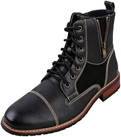 Ferro Aldo Andy Mens Ankle Boots | Combat | Lace Up | Fashion | Casual | Winter | Dark Brown
