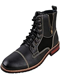 Andy Mens Ankle Boots | Combat | Lace up | Fashion | Casual | Winter