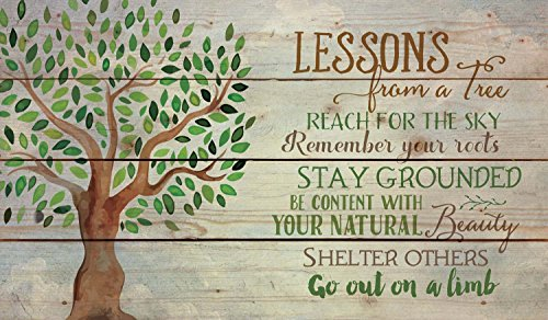 Lessons from a Tree Reach for the Sky 14 x 24 Wood Pallet Wa