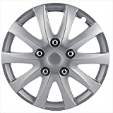 """Pilot Automotive WH526-14S-BX Silver 10 Spoke Camry Style 14"""" Wheel Cover, (Set of 4)"""