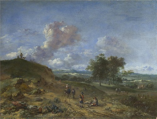 ['Jan Wijnants A Landscape With A High Dune And Peasants On A Road ' Oil Painting, 10 X 13 Inch / 25 X 33 Cm ,printed On Perfect Effect Canvas ,this Amazing Art Decorative Prints On Canvas Is Perfectly Suitalbe For Bathroom Gallery Art And Home Decoration And] (Plastic Surgery Costume Makeup)