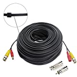 Hykamic 150ft BNC Video Power Cable Security Camera Wire Cord for CCTV DVR Surveillance System, Support 1080P Security Cameras Systems, Made by Pure Copper (1 pack)