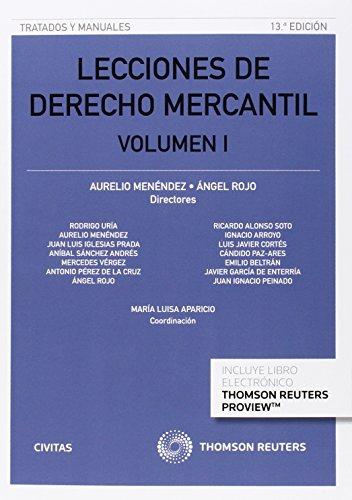 Descargar Libro Lecciones De Derecho Mercantil Volumen I Aurelio Menendez Menendez