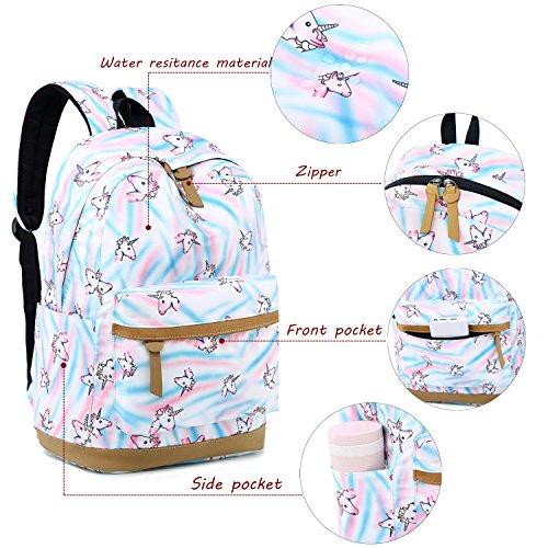 245ba9ff186e CAMTOP Teens Backpack for School Girls Kids School Bookbag Set Travel  Daypack