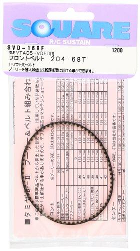 Front drive belt 204-68T Tamiya TA05-VDFII for SVD-168F
