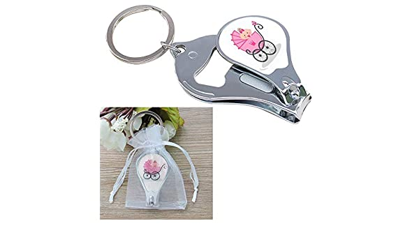 Amazon.com: Baby Shower Pink Girl Keychain Favors (12 PCS ...