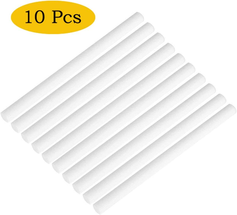 10 Pack Cotton Filter Refill Sticks Wicks Replacement for Personal Humidifiers OURRY Humidifier Cotton Filter Wicks Long: 195mm//7.68inch, Short: 117mm//4.61inch
