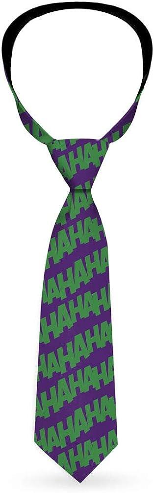 Joker HAHAHA Repeat Purple Green Necktie Standard