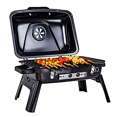 Pinty Portable Folding Charcoal Grill Carbon Steel Tabletop BBQ Grill for Outdoor Use, 250 Square Inch from Pinty