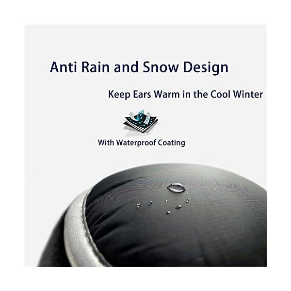 Ear Warmers Waterproof Unisex Winter Fleece Earmuffs for Men Women Adjustable Ear Muffs