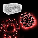 """30 Mini Bulb LED Battery Operated Fairy String Lights in Red, for Christmas, Wedding, Home Decoration, Crafts (158"""" inch Long String) by Super Z Outlet®"""