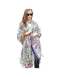 DANA XU 100% Pure Wool Winter Women Scarf National Style Pashmina …