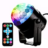 Party Lights, Monejoy Disco DJ Lights 7 colors rotating disco sound activated Stage Led Strobe Lights for Home party, Birthday, Xmas, Party, Easter, Christmas, Celebration, Wedding, KTV, Bar, Club