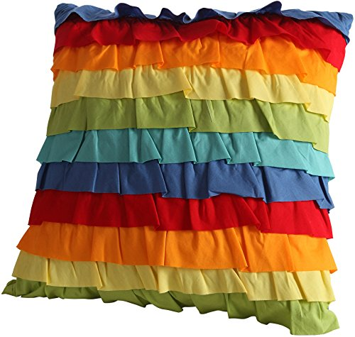 Fiesta Baja Ruffled Decorative Pillow