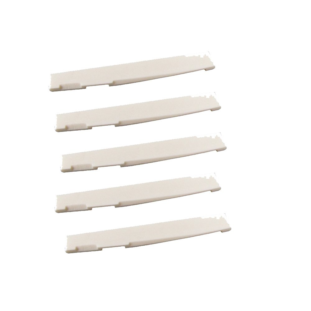 Musiclily 6 String Acoustic Guitar Bone Bridge Slotted Saddle Guitar Parts(Pack of 5)