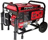 PowerPro 56405 4050-Watt 212cc 7-HP Gas-Powered Portable Generator with Wheel Kit