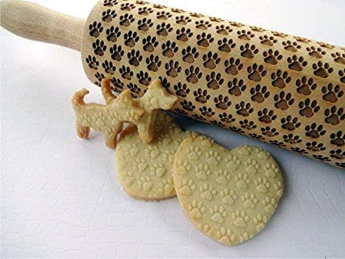 Australian Silky Terrier Small Embossing Rolling Pin with Dog Cookie Roller US