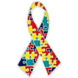 PinMart's Autism Awareness Ribbon Puzzle Piece Enamel Lapel Pin 1-1/4""
