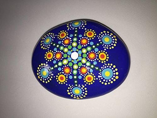 Hand Painted Mandala Stone (Hand Painted Paperweight)
