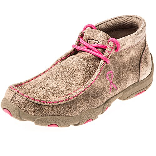Twisted X Boots Boys Kid s Breast Cancer Awareness Dusty Tan Driving (3 Moc)