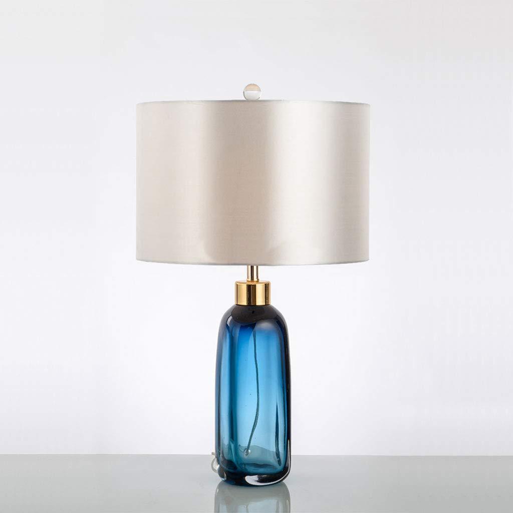 LZQTD Botella de Cristal esmaltada Simple Lámpara de Mesa ...