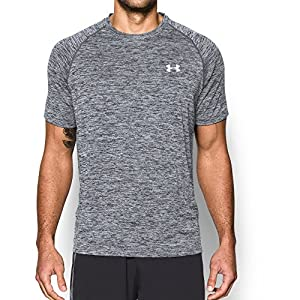 Under Armour Men's Tech Short Sleeve T-Shirt, Graphite/White, Medium