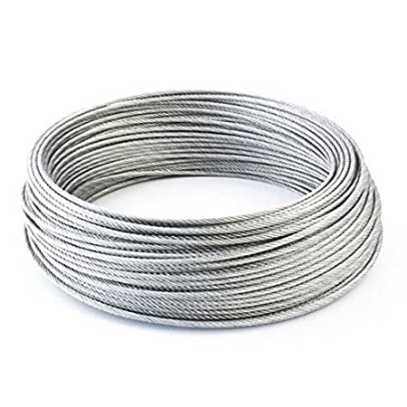 SODIAL(R) STAINLESS Steel Wire Rope Cable Rigging Extra, Length:100m Diameter:1.0mm
