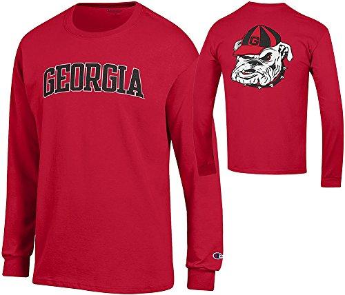 ia Bulldogs Long Sleeve Tshirt Red Back - XL ()