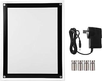 Señal de visualización LED luminosa, acrílico, caja de luz LED A4 ...