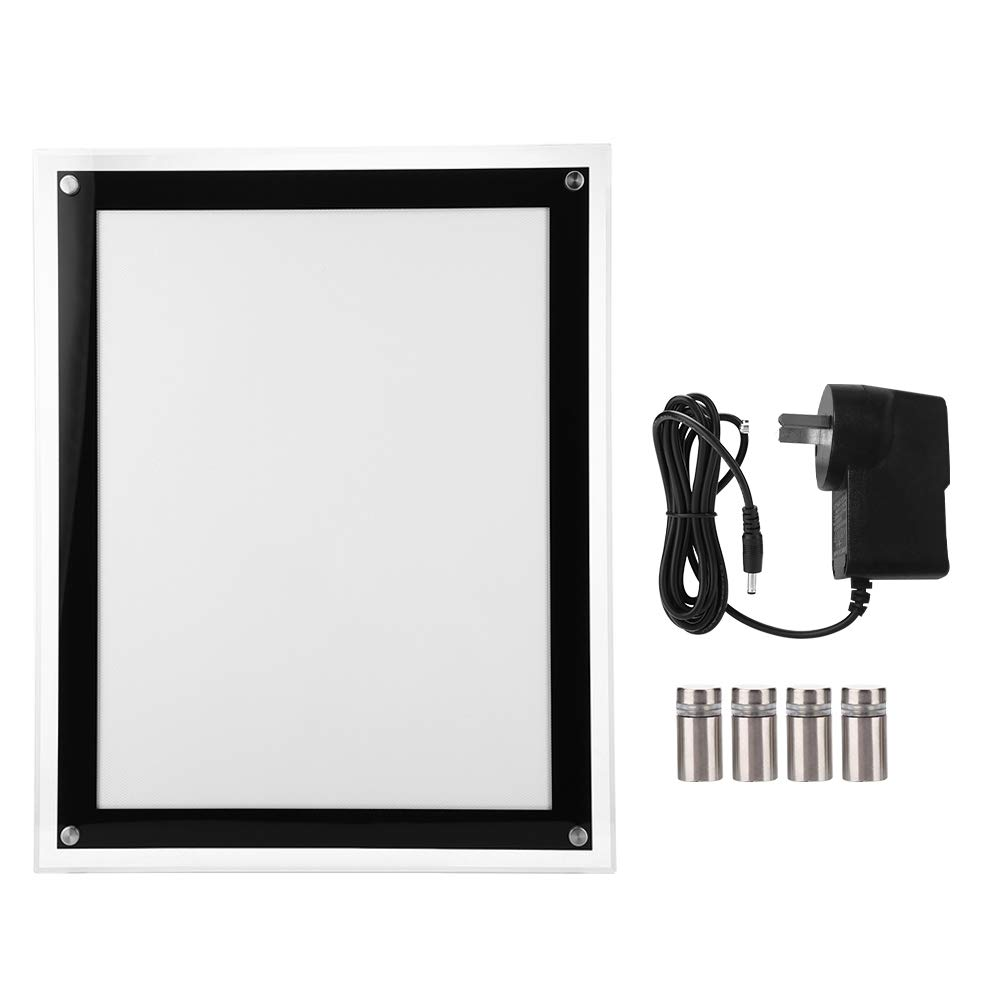 Light Box, Portable Advertising LED Light Box, Brightness LED Artcraft Tracing Light Box Light Pad with Power Adapter for Shop Restaurant Menu Board Indoor use (US Plug)(A3) by Estink-