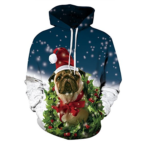 Hoodie Amoma Femme Hoodie Christmas Amoma Pug pn7wzqxHn