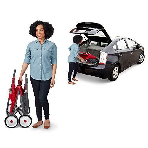Radio Flyer Kid & Cargo with Canopy, Folding Wagon with 2 Versatile Seats, Red by Radio Flyer (Image #4)