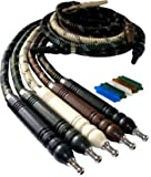 "MYA SARAY 72"" FREEZE HOSE:SUPPLIES FOR HOOKAHS–These Wide Body Hookah hoses are accessory pieces for shisha pipes.These leather accessories parts are washable and offer a cooling effect (Black)"