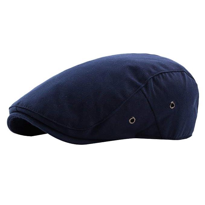 Unisex Vintage Cotton Flat Hat Driving Cap Newsboy Hombre Modernas ...