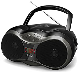 Amazon Com Akai Ce2018 Cd Boombox With Am Fm Radio Home