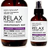 RELAX, Lavender Pillow Mist, Lavender Spray, Lavender + Chamomile Essential Oil, PURE, Calming, Lavender Sleep Mist, HANDCRAFTED, CALM MIND and BODY, NATURAL SLEEP Spray, 4 oz BOTTLE, eunoia naturals