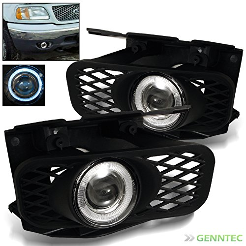 1999-2003 F150 1999-2002 Expedition Halo Projector Fog Lights+Switch+Bulbs+Harness 2000 2001 2002 Pair Left+Right