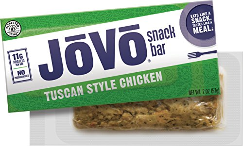 Plate Snack Garden (Jovo Snack Bar - Tuscan Style Chicken Flavor – 11g of protein in each bar – Healthy, savory nutrition bar – Preservative free and no refrigeration required (10 pack))