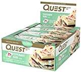 Quest Nutrition Protein Bar Peppermint Bark. Low Carb Meal Replacement Bar w/ 20g+ Protein. High Fiber, Soy-Free, Gluten-Free (24 Count)