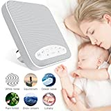#3: White Noise Machine, 2018 Upgraded Sleep Sound Machine, Sound Therapy Machine with 3 Timers & 6 Natural Sound Options Including Lullaby, Ideal for Tinnitus Sufferer, Light-Sleeper, Kid, Baby jarvania