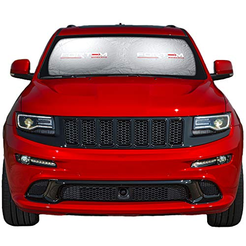 (FORTEM Car Windshield Sunshade - Foldable Nylon Wind Shield Sun Shade - Visor Heat Shield Protector - Keeps Out UV Rays - Protects Vehicle Interior & Keeps it Cool (Large (63