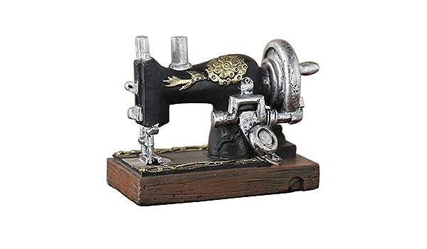 LQCN Máquina de Coser Europea Vintage Modelo Decoración Artesanías ...