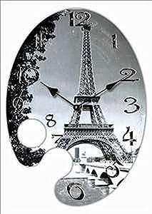 Reloj de pared diseno paris torre eiffel oval reloj de la - Reloj cocina diseno ...